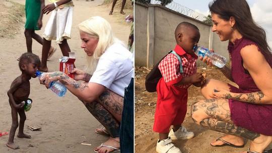 Resultado de imagem para Um ano depois, menino abandonado por 'bruxaria' tem foto recriada na Nigéria