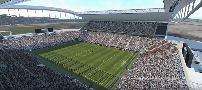 Estádio do Corinthians tem versão digital no game (Foto: Reprodução/Thiago Barros)