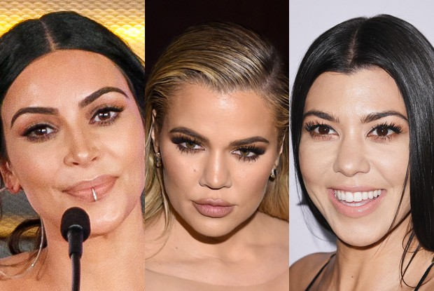Kim, Khloé e Kourtney Kardashian (Foto: Getty Images)