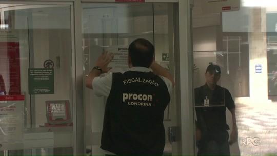 Procon de Londrina fecha banco por descumprir tempo máximo de espera