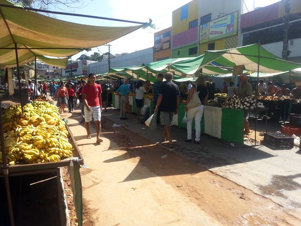 Feira Domingo Avenida Brasil Juiz de Fora (Foto: Nathalie Guimarães/G1)