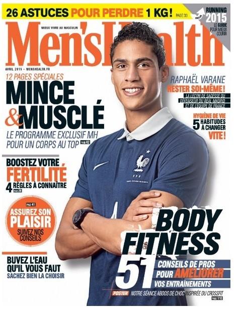 Varane é capa de revista francesa