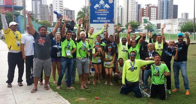 Equipe da APA comemora desempenho em Circuito Paralómpico Brasileiro (Foto: Natanael Barros/ Arquivo pessoal)