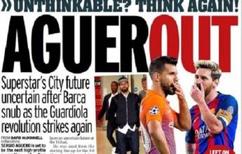 """Jornal: """"revolução"""" de Guardiola no City pode causar a saída de Agüero"""