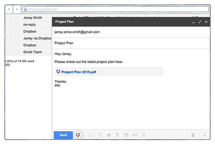 Plugin permite salvar arquivos diretamente para o Dropbox e inserí-los como links (Foto: Reprodução/Dropbox)