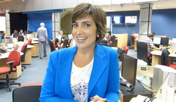Giselle Camargo se despede do Bom Dia Paraná para tirar um mês de férias (Foto: Reprodução/RPC)