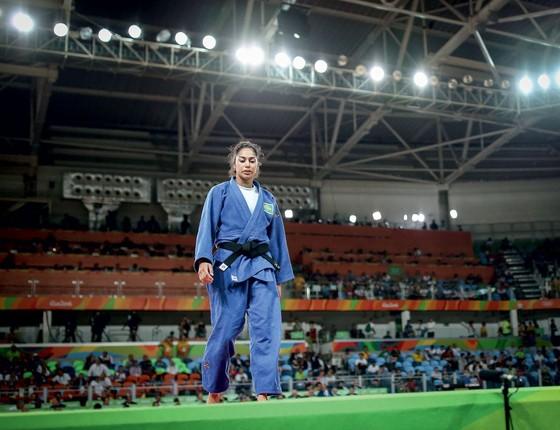 Mariana Silva após derrota na disputa pelo bronze (Foto:  Ricardo Nogueira/ÉPOCA)