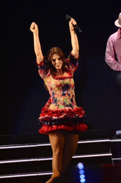 Ivete Sangalo usa shortinho para não mostrar demais em show (Foto: Eli Cruz/Divulgação)