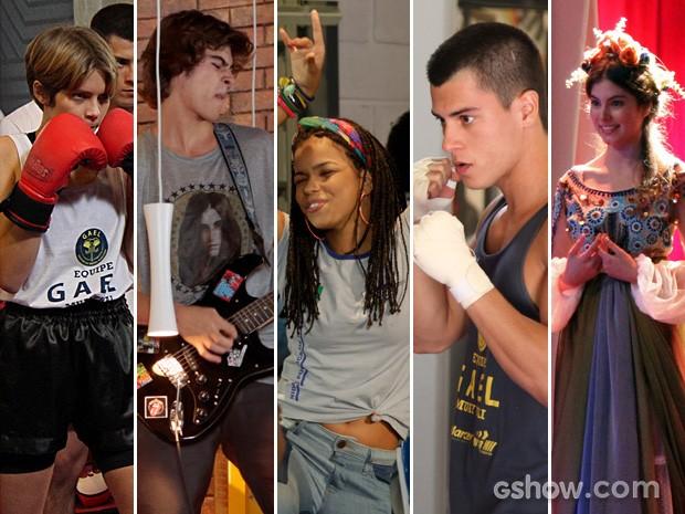 Karina, Pedro, Sol, Duca e Bianca sonham alto (Foto: TV Globo / Malhação)