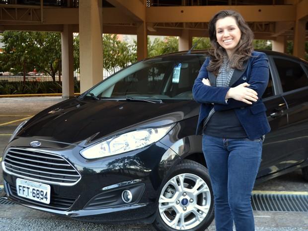 Luciane Luza, cliente de uma empresa de 'Personal Car' (Foto: Daniel Gois / Arquivo Pessoal)