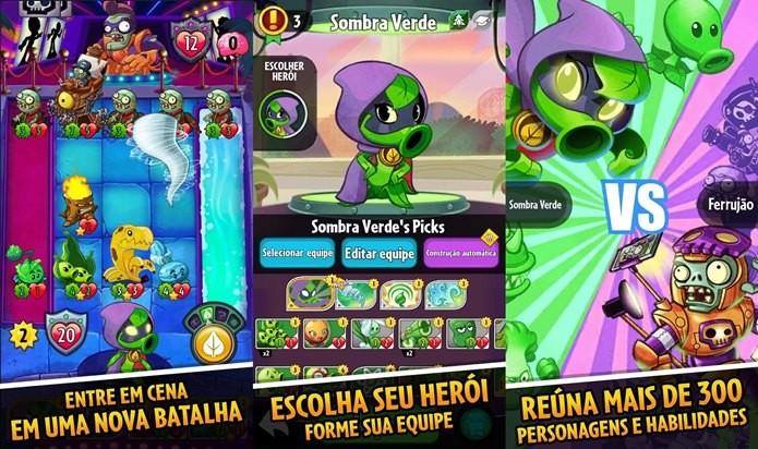 Um combate diferente espera por você em Plants vs Zombies: Heroes (Foto: Divulgação / EA)