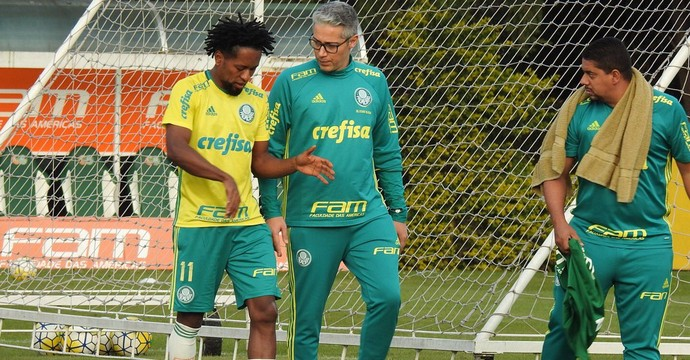 Zé Roberto treino Palmeiras CT (Foto: Rodrigo Faber)