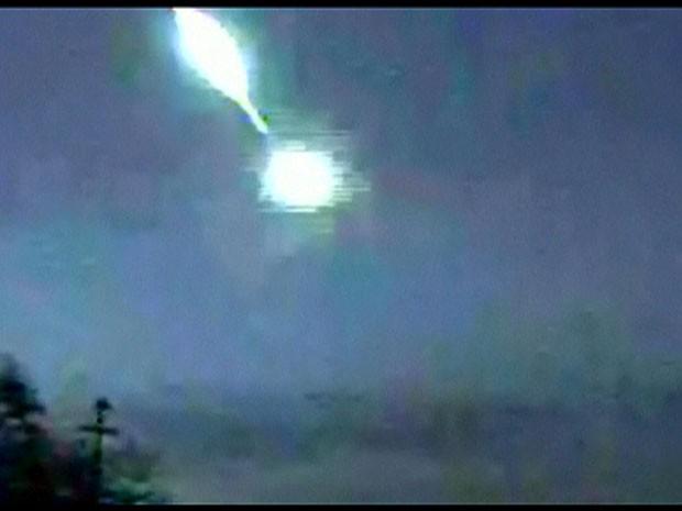 Câmera da Nasa captura 'bola de fogo' no céu do Texas (Foto: Reprodução/BBC)