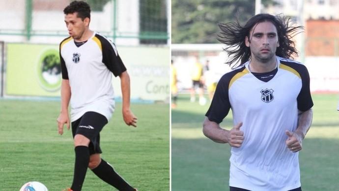 Eusébio e Léo Gamalho, do Ceará (Foto: Montagem/Globoesporte.com)