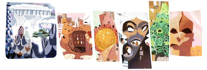 4-doodle-google-161-aniversario-antoni-gaudi (Foto: Reprodução/Google)