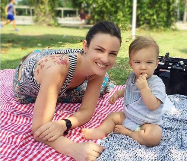 Carolina e Tom: semelhança (Foto: Reprodução Instagram)