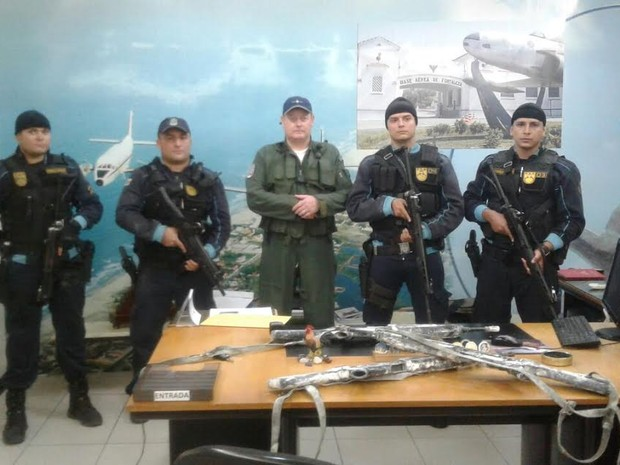 Armas roubadas da Base Aérea de Fortaleza são recuperadas