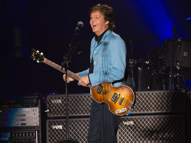Paul McCartney durante o show em Belo Horizonte (Foto: Marcos Hermes / Divulgação)