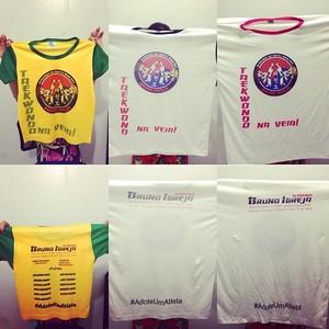 Projeto Social vende camisetas para levar atletas a competição nacional  (Foto: Bruno Igreja/Arquivo Pessoal)