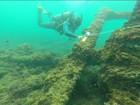 Mergulhador encontra embarcações que podem ser do século XIX no ES