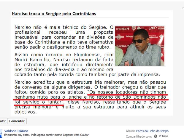 Print Valdson Indelicado  (Foto: Reprodução Facebook)