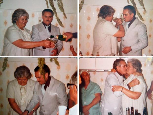Pedro e Alzira comemoraram 59 anos de casados nesta quarta-feira (Foto: Arquivo pessoal)