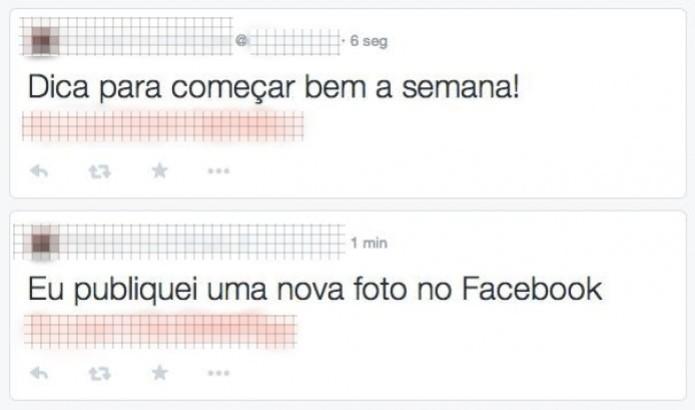 Certifique-se de que há legenda na foto em que está postando para substituir a mensagem automática das publicações do Facebook no Twitter (Foto: Reprodução/Conrado Alcântara)