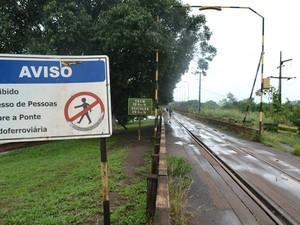 Ferrovia está incluída no Sistema Amapá, em Pedra Branca do Amapari (Foto: Abinoan Santiago/G1)