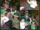 Mariah Carey comemora Dia de São Patrício com a família