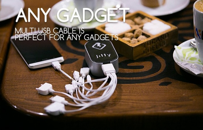 Jiffy acompanha cabo multi USB (Foto: Divulgação/Arcadie Doncila)