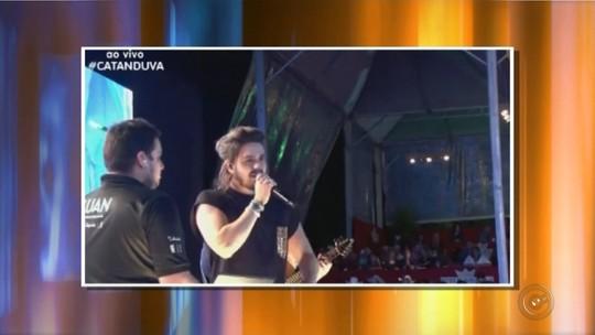 Luan Santana comenta queda de palco durante show: 'Nunca tinha visto acontecer na minha vida'