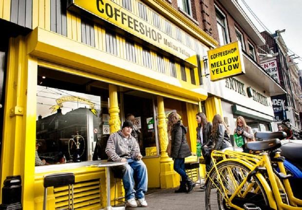 Café Mellow Yellow, o mais antigo de Amsterdã (Foto: Reprodução/Facebook)