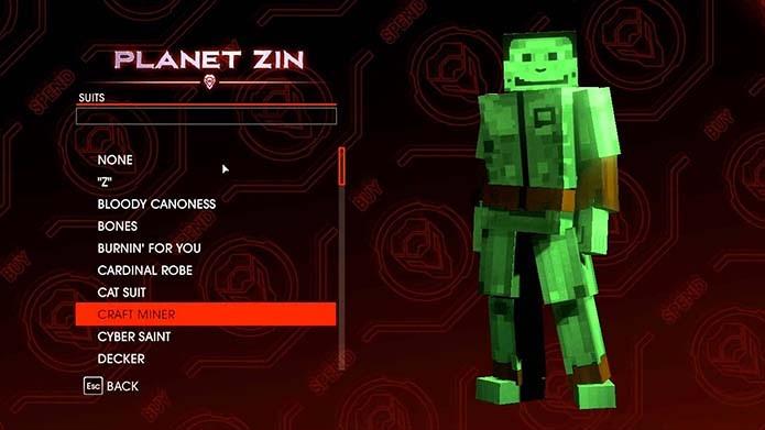 Roupa inspirada em Minecraft é atração do quarto game (Foto: Reprodução)
