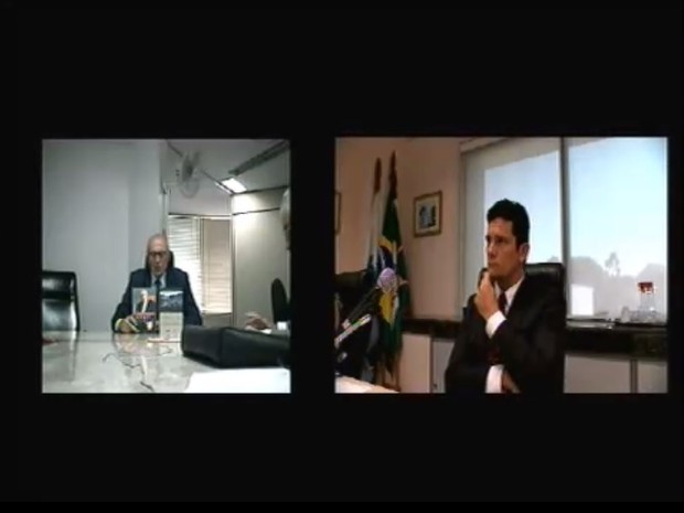 Eduardo Suplicy foi ouvido pelo juiz Sérgio Moro como testemunha de defesa de Antonio Palocci em ação da Lava Jato (Foto: Reprodução/Justiça Federal do Paraná)