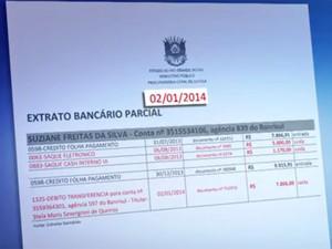 Extratos mostram transferências para conta do deputado (Foto: Reprodução/RBS TV)