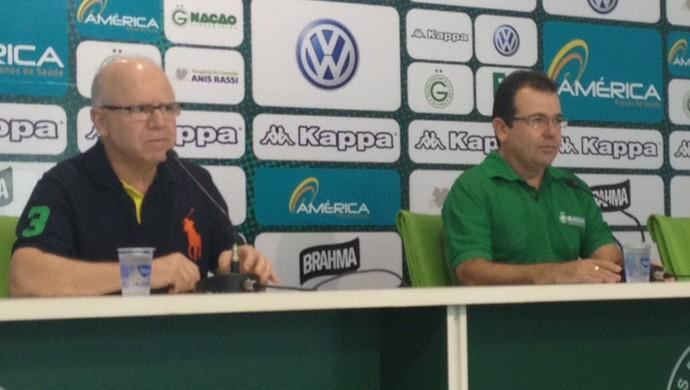 Enderson Moreira, coletiva, Goiás (Foto: Sílvio Túlio/GloboEsporte.com)