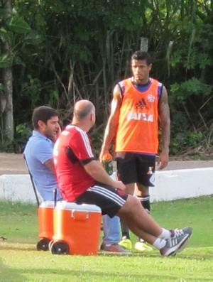 Léo Treino Flamengo (Foto: Thales Soares)