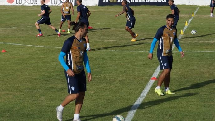 Treino Avaí atacantes André Lima e Léo Gamalho - CT ABC - Natal-RN (Foto: Augusto Gomes/GloboEsporte.com)
