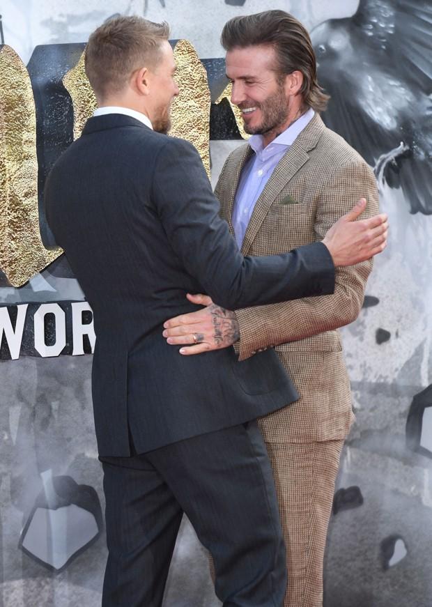 Charlie Hunnam e David Beckham (Foto: AKM-GSI)