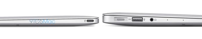 Novo MacBook Air de 12 polegadas poderá ser até duas vezes mais fino que modelo atual (Foto: Reprodução/9to5Mac)