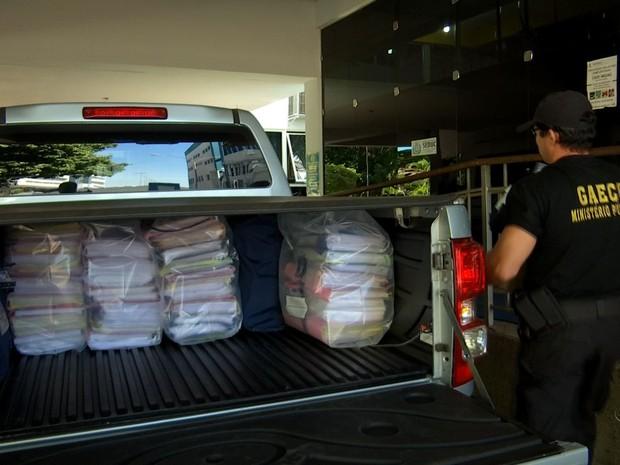 Gaeco cumpriu mandados de busca e apreensão na Grande Cuiabá (Foto: Reprodução/TVCA)