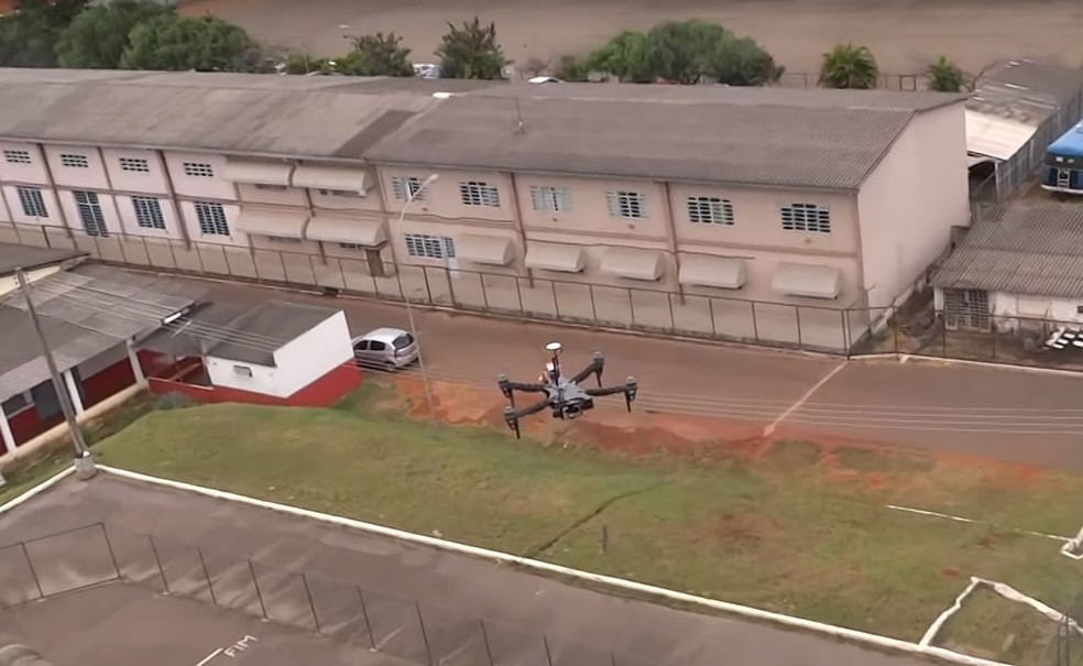 Drone usado pelo Corpo de Bombeiros do Distrito Federal (Foto: Reprodução)