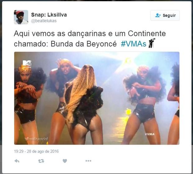 Internautas comentam bumbum de Beyoncé (Foto: Twitter / Reprodução)