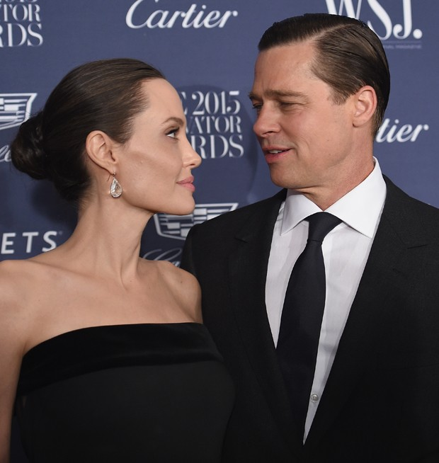 Brad Pitt e Angelina Jolie (Foto: Dimitrios Kambouris/Getty Images)