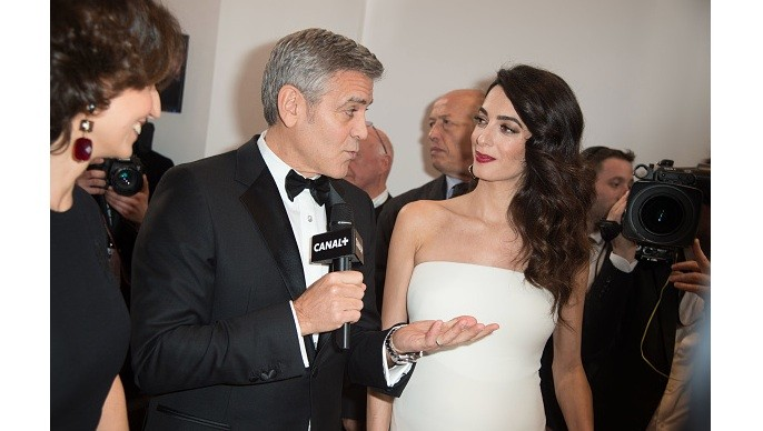 George e Amal Clooney no Cesar (Foto: Getty)