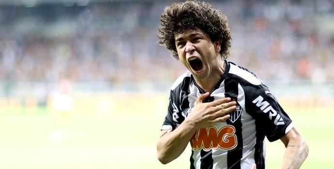 Luan gol Atlético-MG x Flamengo (Foto: Cristiane Mattos / Ag. Estado)