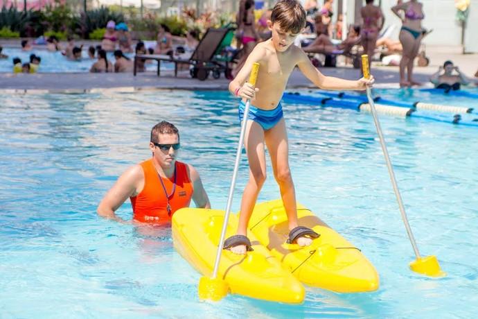 Atividade é uma das últimas realizadas na água nesta edição do Sesc Verão (Foto: Sesc Thermas / Divulgação)