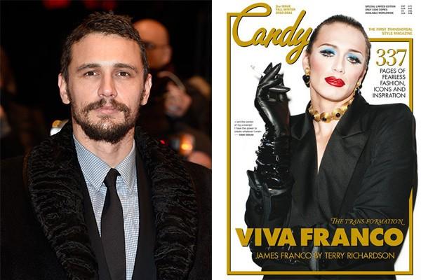 Além de Jared Leto, o ator James Franco também já se caracterizou para uma capa da 'Candy'. (Foto: Getty Images e Divulgação)