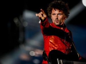 O vocalista Matthew Bellamy durante show do Muse no Palco Mundo (Foto: Flavio Moraes/G1)