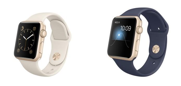 0b53d949087 Versão em branco e azul dos modelos em alumínio em dourado do Watch Sport  (Foto